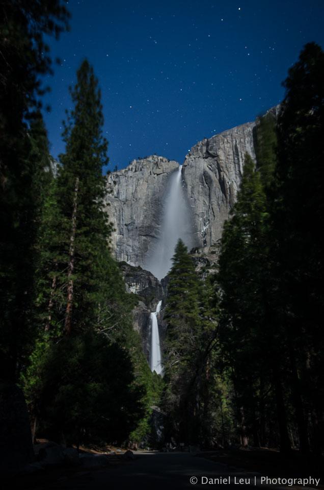 Yosemite Falls at night