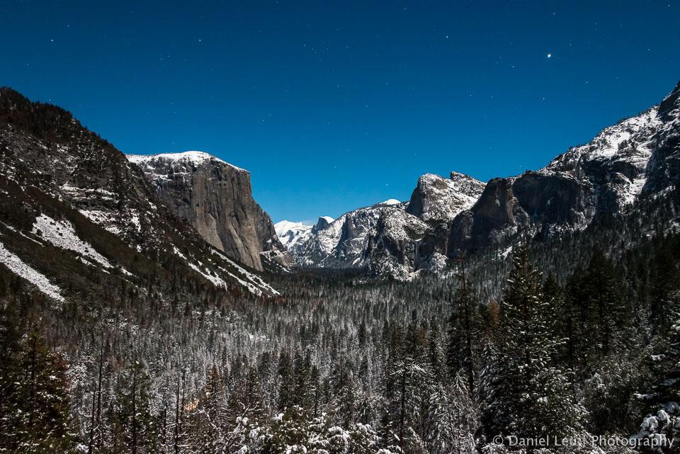 Yosemite Valley under a Starry Sky