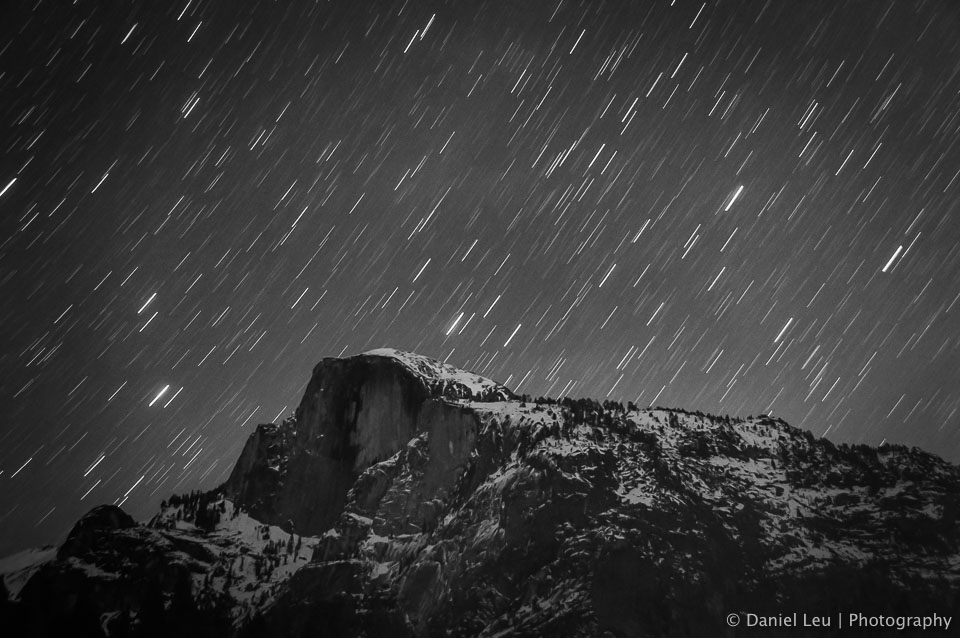 Half Dome with Star Trail