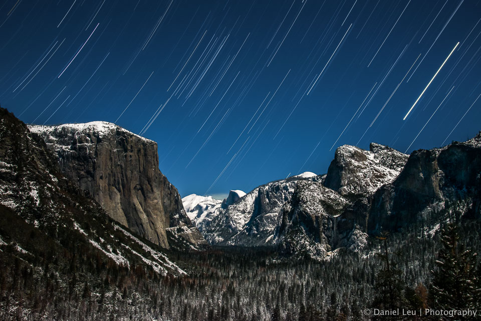 Yosemite Valley with Startrail