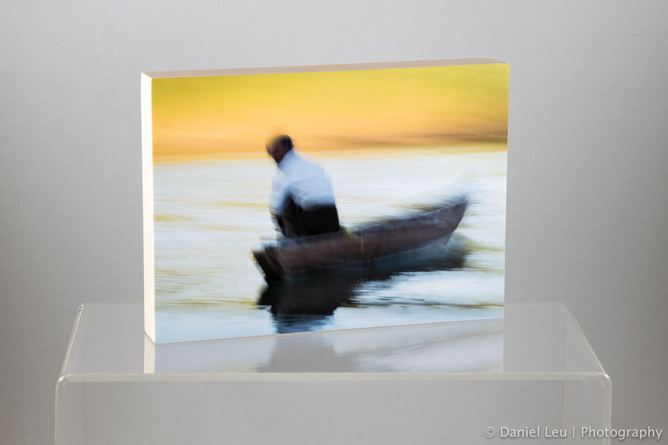 Fine art print mounted on a 5x7x0.5 sealed wood panel, varnished for UV protection. Ready to hang.